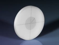 27mm Diameter, White Ivory Glass Concentric Circles Reticle Target, #58-771