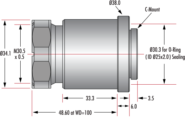 16mm Cw Series Fixed Focal Length Lens